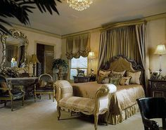 Maria Billingsley of J Hettinger Interiors.  So this is what you do when you only have 1 or 2 windows in a room and you don't think it is enough. You create the drapery look over the bed darling...and then you'll have sweet dreams....guaranteed.
