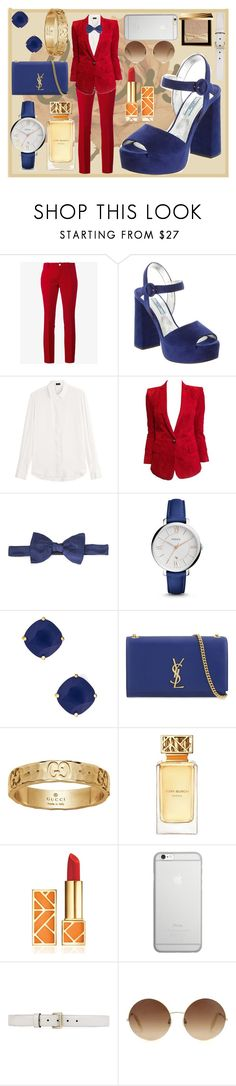 """BG BOW STYLE"" by bohemiangirl99 ❤ liked on Polyvore featuring Gucci, Prada, Joseph, Balmain, Lanvin, FOSSIL, Kate Spade, Yves Saint Laurent, Tory Burch and Native Union"