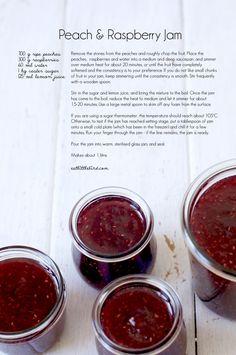 Peach & Raspberry Jam Recipe Using Jam, Ketchup, Sauces, Canning Recipes, Canning 101, Canning Vegetables, Homemade Jelly, Ripe Peach, Salsa