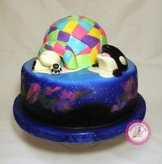 Aurora Borealis Igloo - Ariel :) - Aurora Borealis Igloo Aurora Borealis Igloo - Cake by Becca's Edible Art - Alaska Cake, Igloo Cake, Double Birthday Parties, Colorful Cakes, Piece Of Cakes, Edible Art, Aurora Borealis, Amazing Cakes, Ariel
