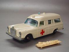 Vintage Matchbox Ambulance. Mercedes Benz.