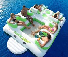 Tropical Tahiti Floating Island Inflatable Pool Float Summer Fun WOW Swimmin for sale online Inflatable Floating Island, Floating Lounge, Floating Cooler, Floating Boat, My Pool, Pool Fun, Water Toys, Cool Inventions, Outdoor Fun