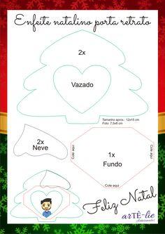 Artesanato em Feltro - Árvore de Natal - Molde