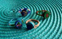 Hemp bead rings