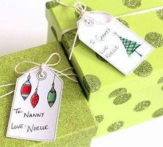 Simple Art Printable Christmas Gift Tags   Get these sweet printable Christmas tags.