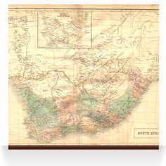 Old South Africa. A range of old map images which could be used as wall displays/wallpapers.