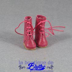 Pink leather Boots for Blythe doll - Botas rosas  en piel para Blythe de LaBoutiquedeBlythe en Etsy