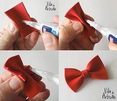 Etapas da montagem da gravata