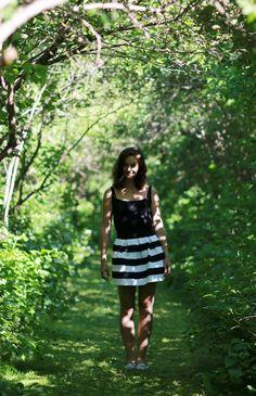 #outfit #summer #style #fashion #päivänasu #look #dress #stripes #shorthair #mediumlonghair