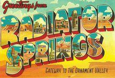 Radiator Springs: Carsland color palette