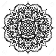 Mehndi, Indian Henna Tattoo Pattern Or Background Royalty Free Cliparts, Vectors, And Stock Illustration. Image 39930063.