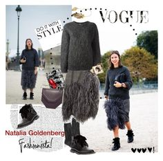 """My Fashion Icon Natalia Goldenberg"" by vilen ❤ liked on Polyvore featuring American Eagle Outfitters, Dries Van Noten, Yves Saint Laurent, M2Malletier and CÉLINE"