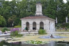 The Shelter, Summer 2013, in The Italian Gardens, Kensington Gardens, Kensington, London, England, United Kingdom.