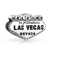 Bling Jewelry Bling Jewelry 925 Silver Welcome To Las Vegas Bead... ($16) ❤ liked on Polyvore featuring jewelry, pendants, silver tone, silver initial charms, initial charms, letter jewelry, beaded jewelry and bead charms