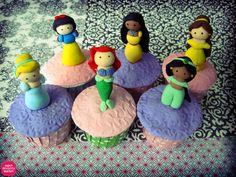 Disney Princesses on a cupcake!
