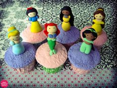 Disney Princesses on a cupcake!