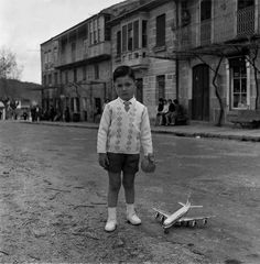 Boy and his plane Children Photography, Portrait Photography, Photo Report, Old Photographs, Winter Jackets, Normcore, Black And White, People, Vintage