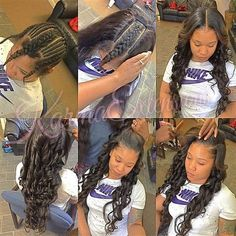 Amazing Middle Part Sew In Hairstyles - Curly Girl Swag - - Are you looking for some middle part sew in weaves ideas for your next hairstyle? We have Amazing Middle Part Sew In Weaves Ideas just for you! Sew In Braids, Braids With Weave, Weave Braid, Sew In Hairstyles, Black Girls Hairstyles, Long Weave Hairstyles, Amazing Hairstyles, Casual Hairstyles, Medium Hairstyles