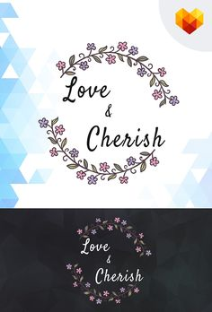 Love & Cherish #Wedding #Logo #Template #webdesign #webtemplate #weddingdecor