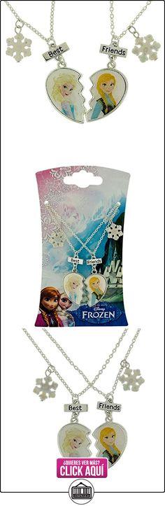 """Niña de Frozen plateado """"best friends"""" collares 40,64 cm + 7,62 cm alargador ✿ Joyas para mujer - Las mejores ofertas ✿ ▬► Ver oferta: https://comprar.io/goto/B00ZUECEN2"""