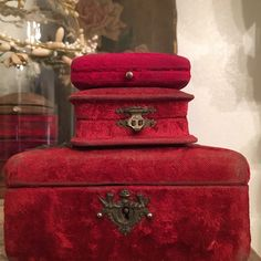 Your place to buy and sell all things handmade - Victorian velvet - Victorian Jewelry, Antique Jewelry, Vintage Ring Box, Jewelry Store Design, What's My Favorite Color, Ruby Red Slippers, Faberge Jewelry, Small Jewelry Box, Antique Boxes