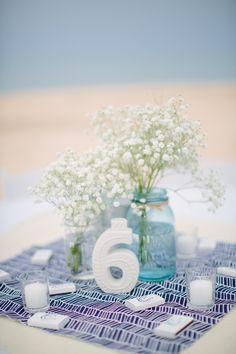 Beachside Lake Michigan Wedding at Home Beach Wedding Tables, Beach Wedding Centerpieces, Seaside Wedding, Nautical Wedding, Wedding Table Numbers, Home Wedding, Destination Wedding, Wedding Planning, Dream Wedding