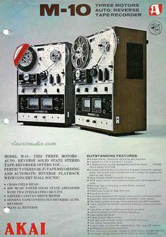 classicaudio.com..... Vintage Ad Gallery - Audio - Akai M-10 Reel to Reel