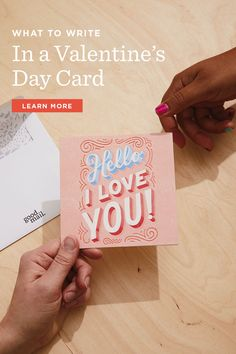 Stuck on what to write in your Valentine? Hallmark writers offer up inspiration to help you find just the right loving words to add when you send a valentine.