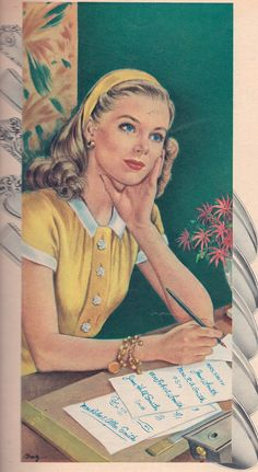 The Lost art of letter writing  Ad stationary Seventeen Magazine 1946 | Flickr - Photo Sharing!