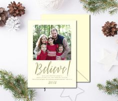 Letterpress Christmas Card - Believe | Southern Stationery