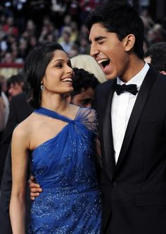 Freida Pinto and Dev Patel are so freaking cute!!!!