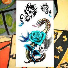 Nu-TATY Boy & Man & Woman style Temporary Tattoo Body Art Flash Tattoo Stickers 19*9cm Waterproof Fake Tatoo Styling Sticker