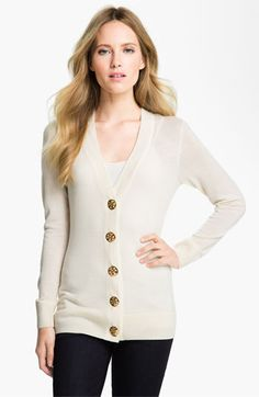 Tory Burch 'Simone' Merino Cardigan available at #Nordstrom