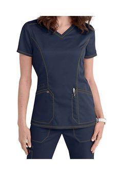 Blue Women Size XS Scrub Tops for sale Spa Uniform, Scrubs Uniform, Medical Uniforms, Nursing Uniforms, Scrubs Outfit, Princess Line, Jeans, Womens Scrubs, Medical Scrubs