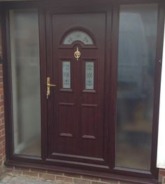 uPVC Front Doors and Side Panels are perfect Front Door options for those with a large entrance. Click the link to get your new uPVC Front Door with Side Panel today!   #homedecor #homeideas #upvcfrontdoor #upvcfrenchdoors #upvcporchideas #upvcwindow #upvcdoor #upvc #upvcbackdoor #frontdoorideas #frontdoorcolours