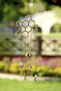 Bees and Honeycomb Mobile - Honey Bee Decor | Gardeners.com