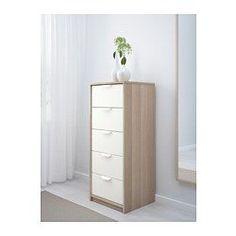 IKEA - ASKVOLL, Commode 5 tiroirs, , La maison doit être un lieu sûr pour chaque membre de la famille. C'est pourquoi une fixation de sécurité est incluse afin de fixer la commode au mur.La commode est haute, ce qui offre un grand espace de rangement sans prendre de place dans la pièce.Les tiroirs, qui sont faciles à ouvrir et à fermer, sont équipés d'arrêts.