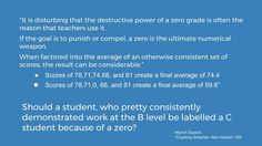 https://flic.kr/p/Wg6HCT   Educational Postcard:  Should a student, who pretty consistently demonstrated work at the B level be labelled a C student because of a zero?