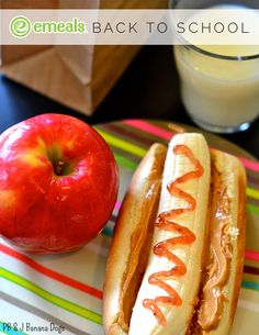 Add some fun to your child's lunchbox with this new spin on a classic: PB&J Banana Sandwiches