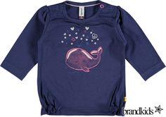 Babyface Longsleeve donkerblauw - Meisjes Baby T-shirts lange mouw €17,95