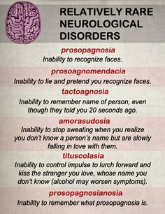Relatively Rare Neurological Disorders - some of these are symptoms of brain injury - acquired & traumatic