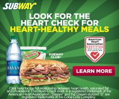 Subway Heart Healthy Sandwiches + Special Offers!