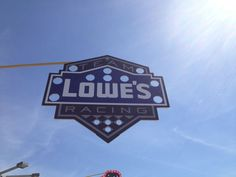 from Chris Clark WCNC Jimmie Johnsons Lowes Team racing sign