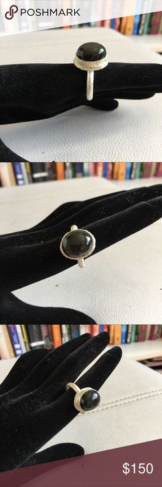 Handmade real sterling silver ring w gemstone Handmade real sterling silver ring with gemstone, one of a kind, Lina Wang Jewelry Rings