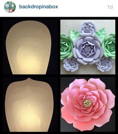 Giant paper roses/ flowers