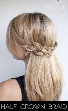 30 braid tutorials, including this half crown braid. This works really well for me now that my hair is shorter.