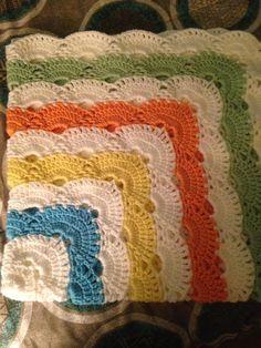 My first virus crochet baby blanket