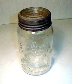 Vintage Crown Quart Canning Jar 1950