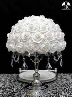 Beautiful Light Pink and Black Weddings – MyPerfectWedding Cream Roses, Blush Roses, Purple Roses, Silver Roses, White Roses, Burnt Orange Weddings, Gray Weddings, Silver Cake Stand, Light Blue Roses