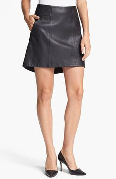 $795.00- Theyskens' Theory 'Swick Neasy' Leather Skirt available at #Nordstrom